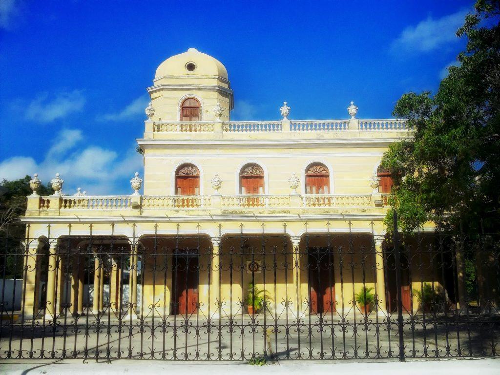 Beautiful colonial building in Merida.