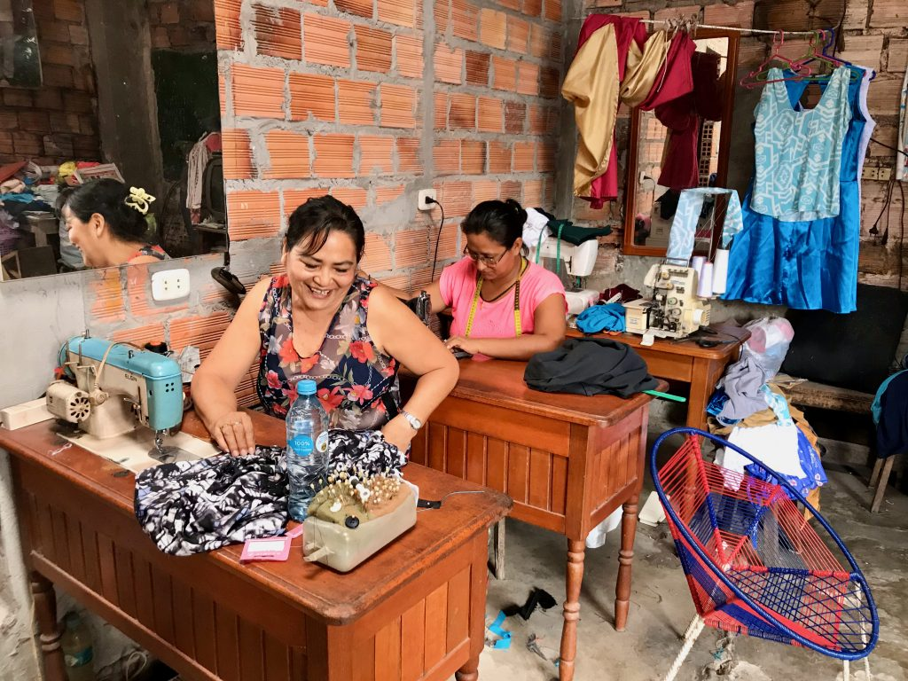 Deborah is a micro entrepreneur and client of microfinance institution Caja Maynas, located in the Peruvian amazonian region. She used a recent loan to install a water tank at her home to provide her family with drinking water.