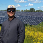 Jamie Houssian, Principal of Elemental Energy, at one of their solar projects.