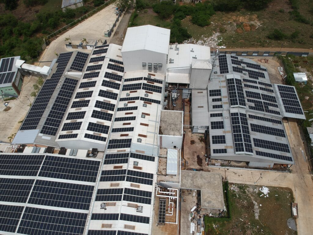 Distributed generation solar energy on a cacao processing plant in the Dominican Republic.