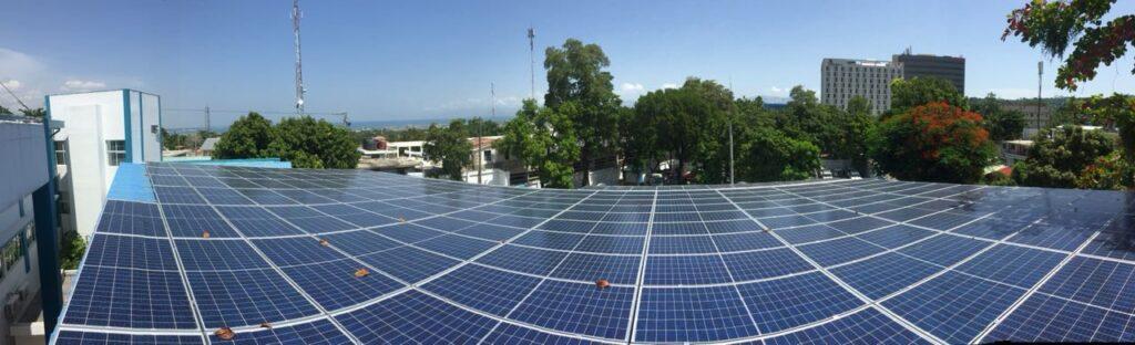 Rooftop solar energy in Port-Au-Prince, Haiti.